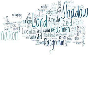 Final Fantasy XI Word Cloud by bamseyboy
