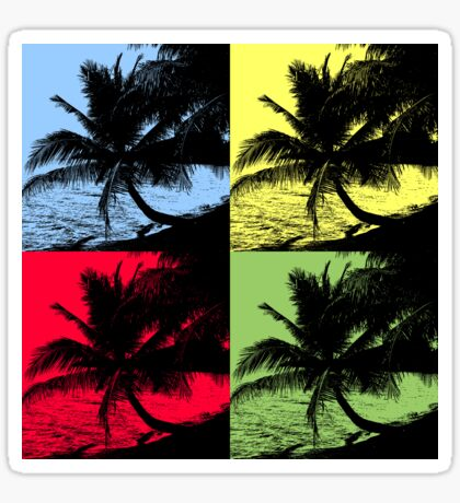 Tropical Palm Trees - Posterised Design Sticker