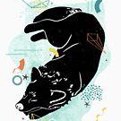 Sleeping Wolf illustration by JannekeMeekes