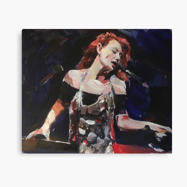 Tori Amos Two pianos Canvas Print