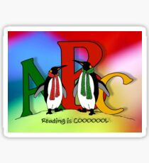 Penguins and Alphabet Letters: Reading is Cool, Colorful Art Sticker