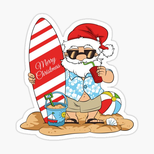 Merry Christmas in July , SANTA IN JULY Sticker