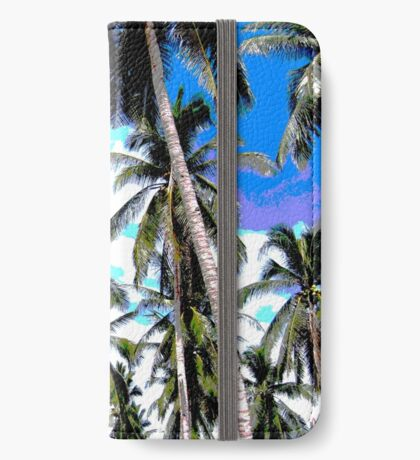 Tropical Palm Trees. Posterised colour design. iPhone Wallet
