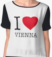 I ♥ VIENNA Women's Chiffon Top