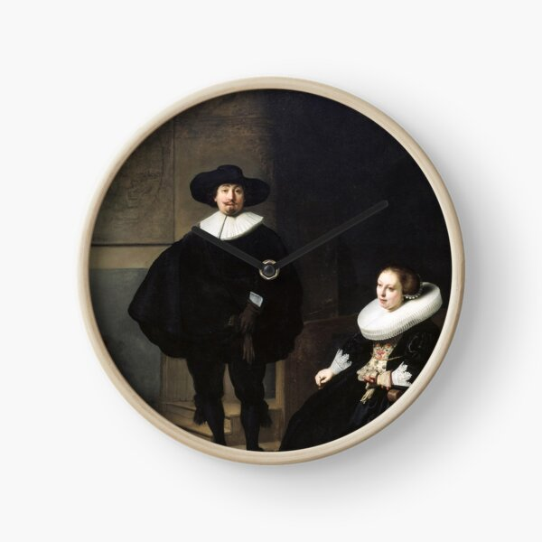 A Lady and Gentleman in Black by Rembrandt Clock