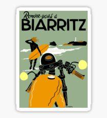 """BIARRITZ"" Vintage Travel Advertising Print Sticker"