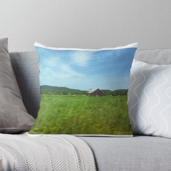 rural farm nature Throw Pillow