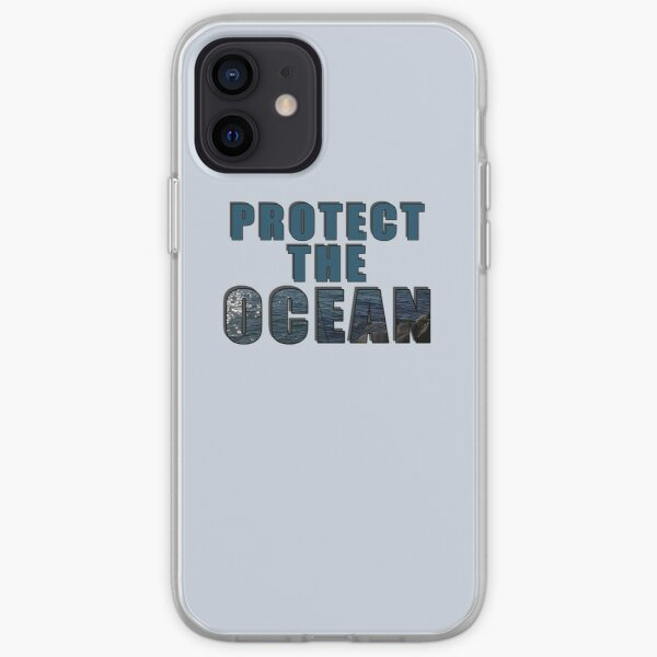Protect The Ocean! Save The Seas iPhone Soft Case
