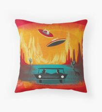 Night Visit Throw Pillow