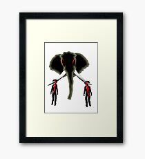 the poacher & the buyer Framed Print