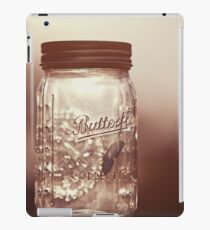 Glass jar for collecting butterflies iPad Case/Skin