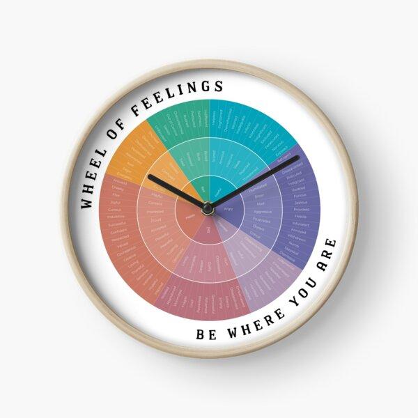 Wheel of Feelings Clock