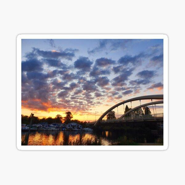Sunset Over The Thames Sticker
