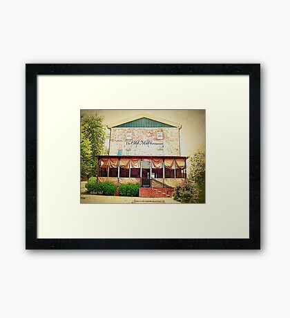 """""""The Old Mill Restaurant""""... prints and products Framed Print"""