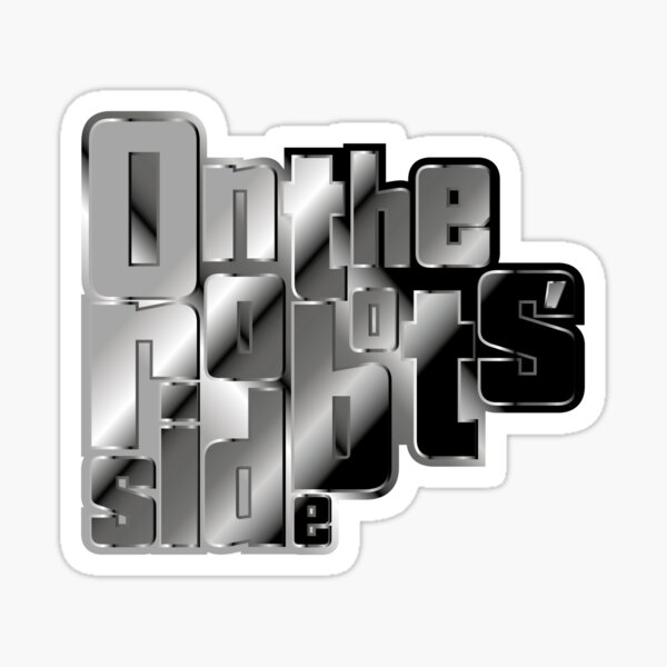 On the robots' side Sticker