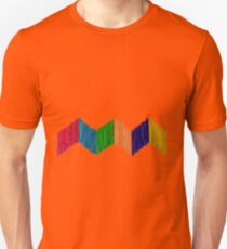 Geometric Composition with Colorful Popsicle Sticks  Unisex T-Shirt