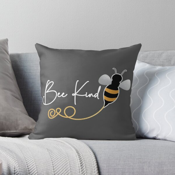 Save the bees, protect the bees, elegant be kind for bee keepers. Caroline Laursen original Throw Pillow