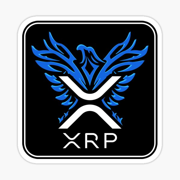 XRP - XRP Cryptocurrency - XRP Logo - Rising Phoenix - XRP Sticker