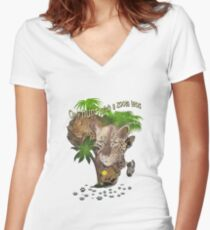 Only Hunt with a Zoom lens Women's Fitted V-Neck T-Shirt