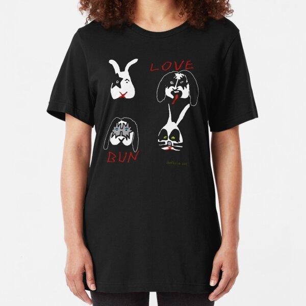 Love Bun - version for black Tshirt only Slim Fit T-Shirt