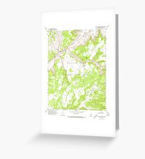 USGS TOPO Map Arizona AZ Red Willow Spring 313076 1970 24000 Greeting Card