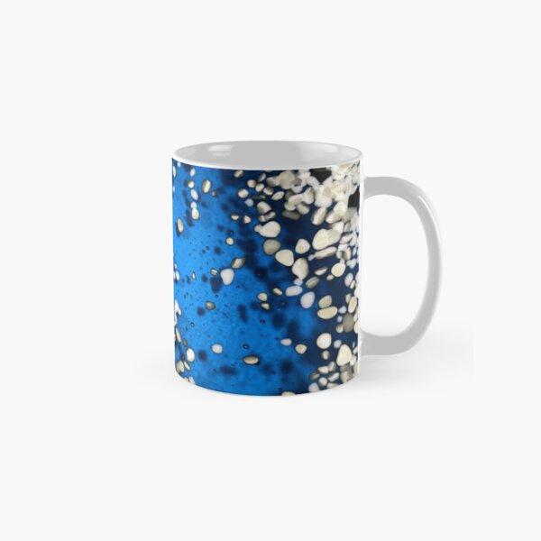 Organic Pattern in Fused Glass Frit on Glass Bowl Classic Mug