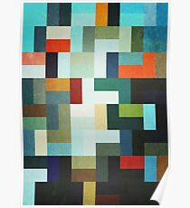 Abstraction #046 Multicolored Blocks I Poster