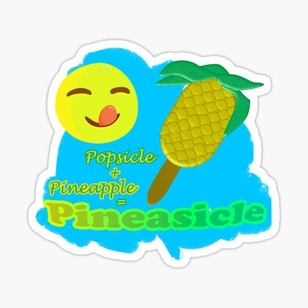 Eis am Stiel-Ananas-Eisart Sticker