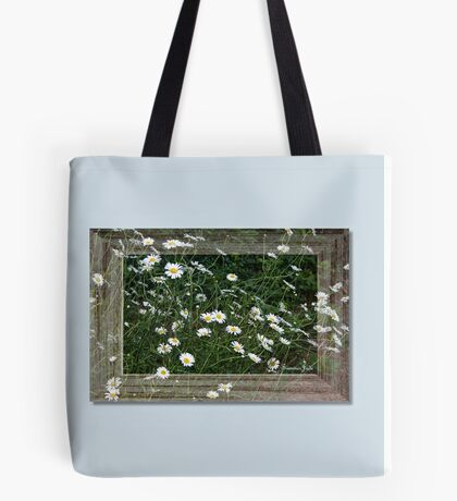 Daisies Gone Wild ~ in a Frame Tote Bag