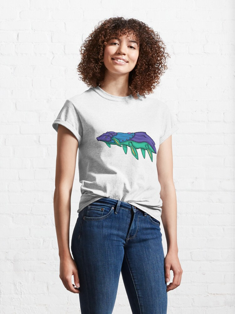 Alternate view of The Multi-Jawed Plesiosaur || a Design by Moose Ptarmigan Classic T-Shirt