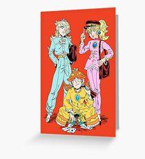 Gakuran Princesses Greeting Card