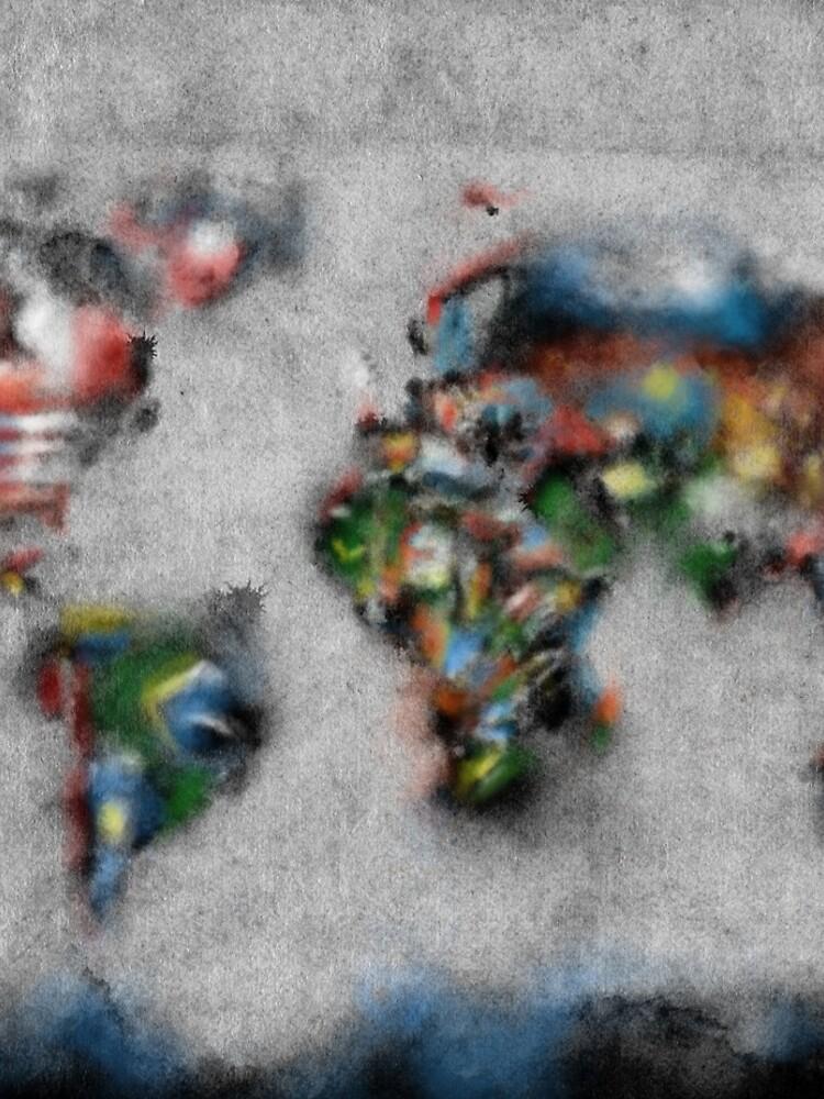 Weltkartenflaggen 4 von BekimART