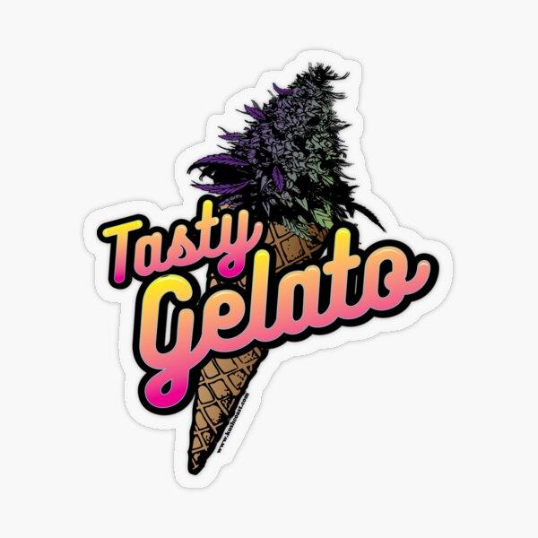 Tasty Gelato Cannabis Strain Art Transparent Sticker