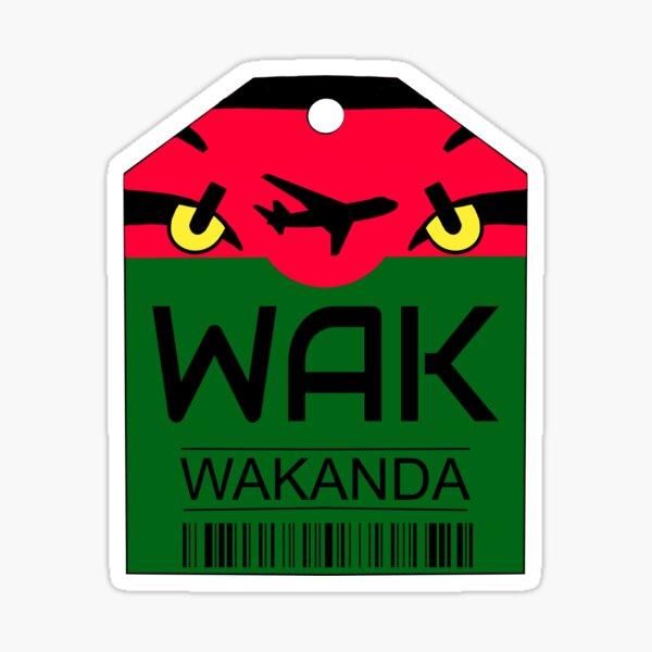 Wakanda Luggage Sticker Glossy Sticker