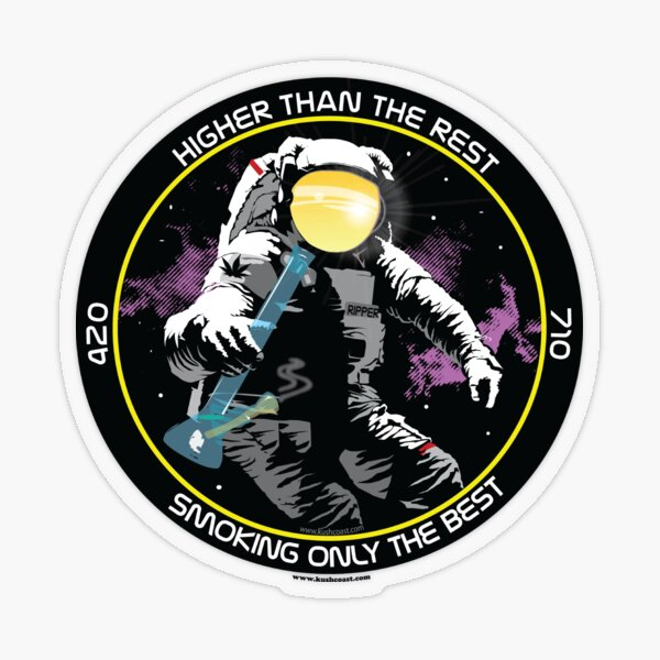 Bong Ripping Astronaut  Transparent Sticker