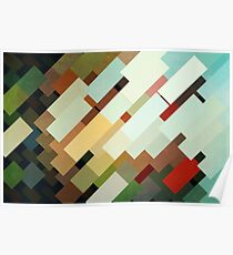 Abstraction #048 Multicolored Blocks II Poster