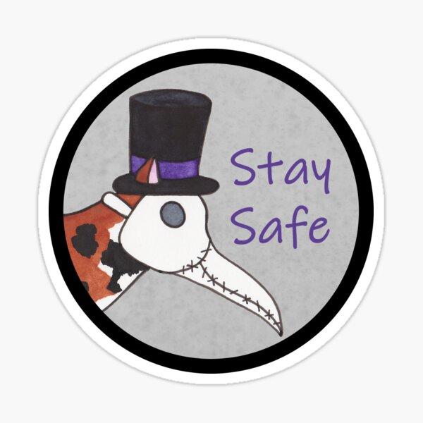 Plague Doctor Cat - Stay Safe Sticker