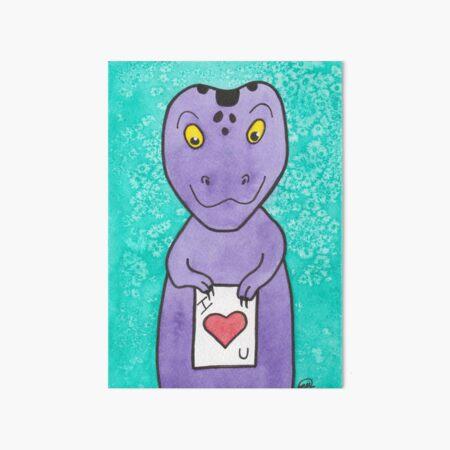 T-Rex Loves You Art Board Print