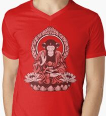 Zen Sapience Halftone Men's V-Neck T-Shirt