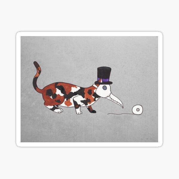 Plague Doctor Cat Sticker