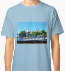 Boat on the River Thames London Classic T-Shirt