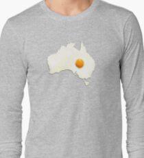 Fried Egg Cartography - Australia 2 Long Sleeve T-Shirt