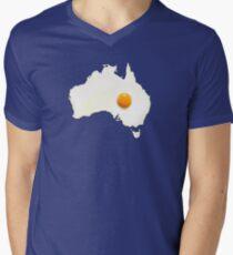 Fried Egg Cartography - Australia 2 Men's V-Neck T-Shirt