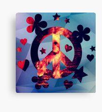 Dog Hearts Peace Design Art most popular  Canvas Print