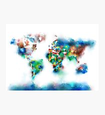 world map flags 6 Photographic Print