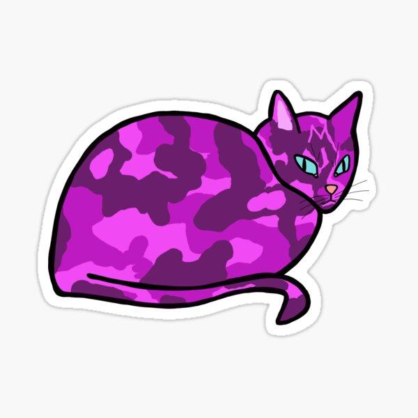 Purple Calico Cat Sticker
