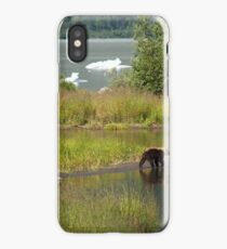 Black Bear at Steep Creek, by the Mendenhall iPhone Case/Skin