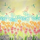 Flowers and Dragonflies by OLIVIA JOY STCLAIRE