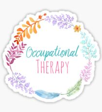 Occupational Therapy Wreath Sticker