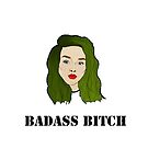 Punklady with green hair / badass bitch by selay